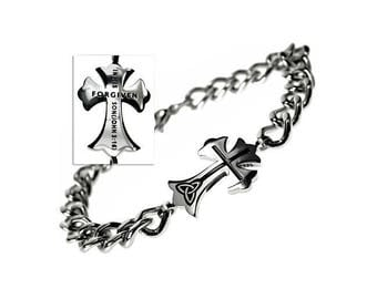 "Trinity Cross Bracelet ""Forgiven"""