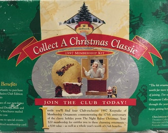 Collect A Christmas  Classic 1997 Hallmark Membership Kit