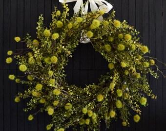 Unique Greenery Wreath, Front Door Wreath, Year Round Wreath, Rustic Farmhouse Decor, Housewarming, Indoor Outdoor Wreath