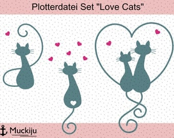 "Plotterfile Set ""Love Cats"""