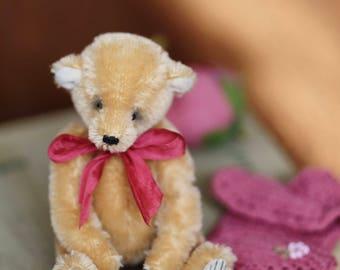Artist teddy bear ooak mohair teddy bear classic pattern plush bear mohair plush toy one of a kind teddy bear teddy artist ooak teddy
