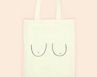 BOOBS TOTE BAG, funny tote bag, canvas tote bag, bridesmaid tote bag, grocery bag, market bag, eco tote bag, reusable bag, shopping bag