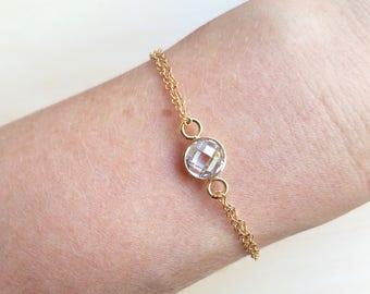 Cubic Zirconia Double Strand Bracelet
