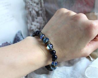 Gemstone Bracelet, Protection Bracelet, Reiki Bracelet, Meditation Bracelet, Healing Bracelet, Vegan Jewellery, Spiritual Jewelry