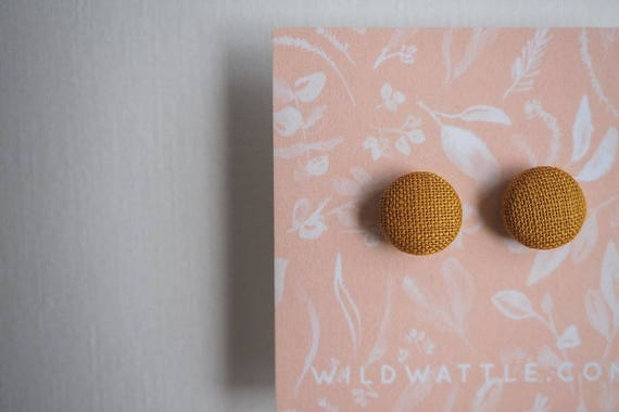 Linen X Wattle Studs in Burnt Caramel