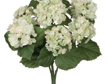 "White Hydrangea Stem 19"""