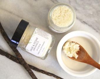 Vanilla & Peppermint Lip Scrub | Organic Lip Scrub | Natural Lip Scrub