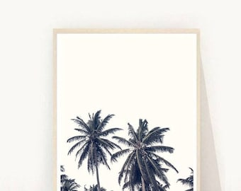 Palm Trees, Palm Tree Poster, Palm leaves, Printable Wall Art, Instant Download, Modern Wall Art, Home Decor, Wall Decor