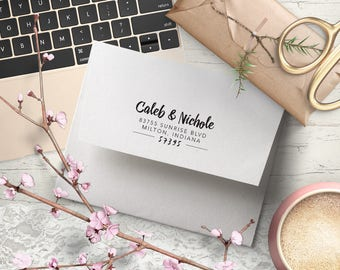 Return Address Stamp, Personalized Wedding Stamp, Wedding Invitation stamp, Custom wedding stamp RSVP Stamp, Save the Date Stamp, Label