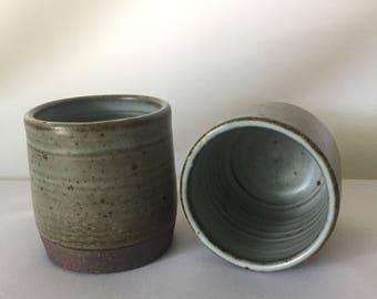 Set of Two Handmade Ceramic Cups/Tumblers