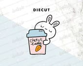 Carrot Latte Bunny Diecut