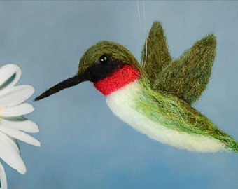 DIY Hummingbird Needle Felting Downloadable Instructions & Link to Video