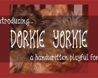 FONT Dorkie Yorkie - otf, ttf & BONUS Taco Tuesday svg kids, playful, handwritten
