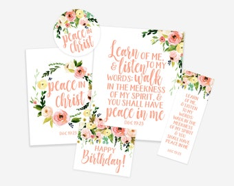Mutual Young Women's Theme 2018 Poster Print, LDS Printables