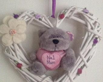 No1 Mum bear garland