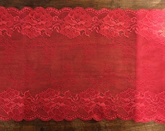 Stretch Lace - Warm Red