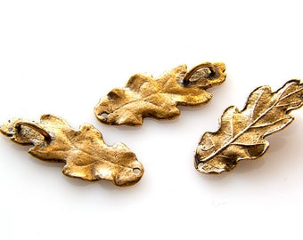 5 PCS Oak Leaf Connector Real Leaf Charm Bronze Leaf Brass Leaf Copper Leaf Silver Leaf Unique Beads Craft Supplies Jewelry Findings