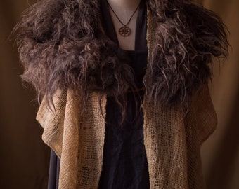 Felted wool collar Isis