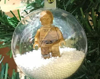 Holiday Christmas Tree Ornament Star Wars C3PO Droid Lego Figurine