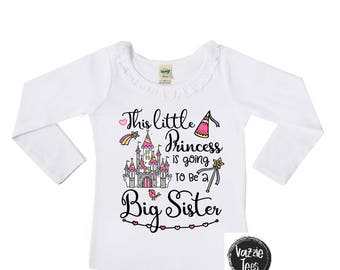 This Little Princess is going to be a Big Sister - Sister Announcement Shirt - Big Sister Shirt - Big Sister Princess - Ruffle Long Sleeve