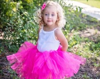Hot pink tutu, Fuschia Tutu, Baby tutu, Summer Tutu, pink tutu, full tutu, toddler tutu, Valentine's Day tutu, Photography prop