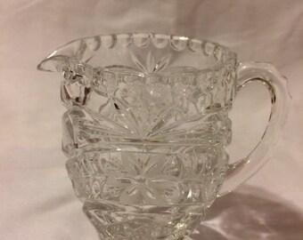 Vintage CUT Lead Crystal GLASS CREAMER