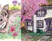 "CUSTOM House or Pet Portrait - 6x8"""
