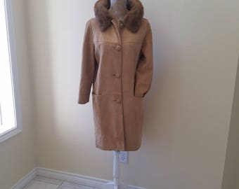 Vintage sheepskin coat | Etsy