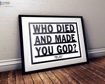 Radiohead Poster - Who Died and Made You God (OK Computer)