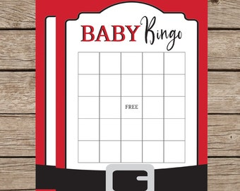 Christmas Baby Shower Game Instant Download|Santa Baby Bingo|Santa Baby Shower Shower Game|Christmas Shower|Party Printable|Printable Games