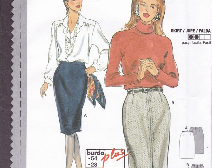 FREE US SHIP Sewing Pattern Burda 3694 Size 10 12 14 16 18 20 22 24 26 28 waist  Plus Uncut Suit Jacket Skirt Blouse Couture