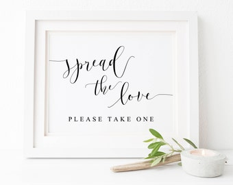 Spread The Love Wedding Sign-Wedding Favor Sign- Favor Sign-Wedding Decor-Wedding Printable-Table Sign.