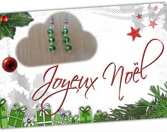 Earrings green Crystal beads and gold beads
