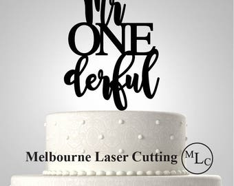 Personalised Acrylic One First Birthday 1 one mr onederful  Cake Topper Custom Decoration