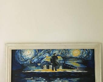 Sherlock Starry Night Painting