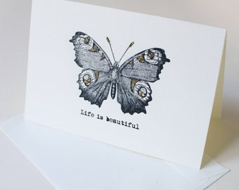 Card  LIFE IS BEAUTIFUL