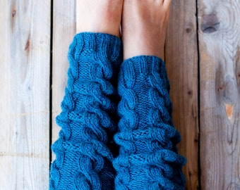 Pure Wool Womens Leg Warmers / Hand knitted Leg Warmers / Warm and Soft LegWarmers / Choose your color. (lw-0002)
