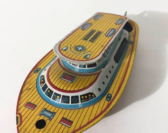 Ancient Japanese yellow boat