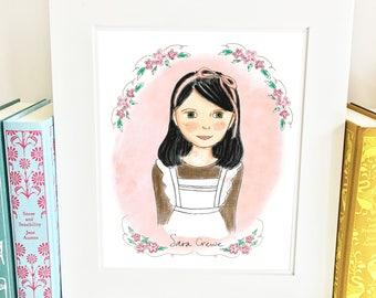 A Little Princess Print - portrait - girls room decor - Limited Edition - HSC
