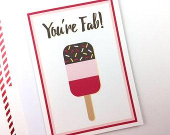 You're Fab, Friendship, Birthday, Celebration, Greetings Card