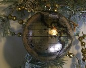 gold metallic globe ornament