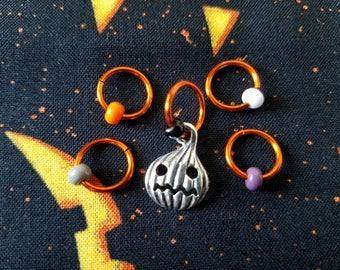 Pumpkin King - Non Snag Stitch Markers