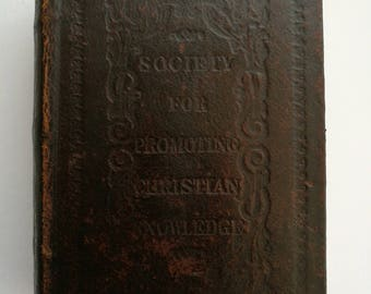A Wonderful 1852 Antique 19th Century Bible By The Society For Promoting Christian Knowledge. Antique Bible Eyre And Spottiswoode MDCCCLII.