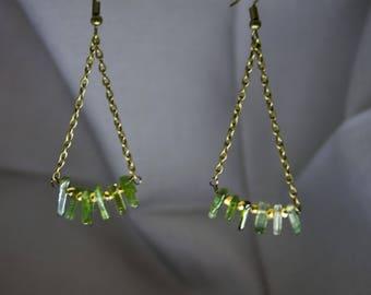 Medusa - green tourmaline & pyrite