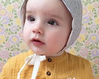 Classic baby bonnet, bonnet for boys, bonnet for girls, modern baby bonnet, sun bonnet, beach bonnet, free uk shipping