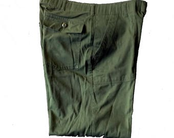 36 x 31 Men's Utility Trousers Olive Green