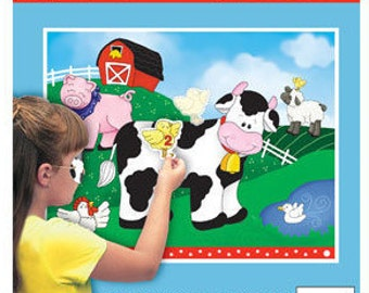 Farm Friends Pin the Chick Party Game