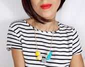 Geometric Necklace - Turq...