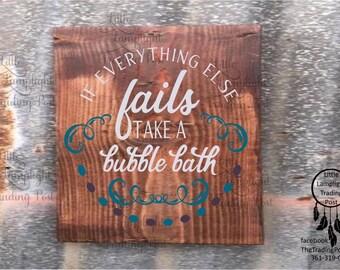 Bathroom Signs Nz bubbles bath sign | etsy