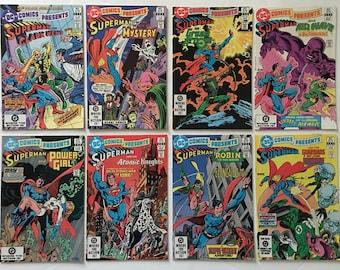 DC Comics Presents #s 50 53 54 55 56 57 58 60 Lot of 8 Bronze Age 1982-1983